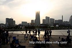 テスト1・大桟橋で日没待ち